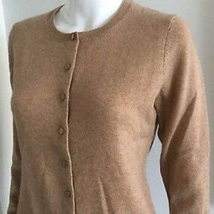 Charter Club Luxury Cashmere Brown  Knit Cardigan
